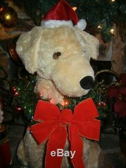 Giant Animated Life Size Golden Retriever / Lab Lighted / Talk Christmas Holiday