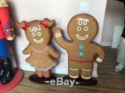 Ginger Bread Cookie Boy Life Size Statue Christmas Decor Movie Props Figurines