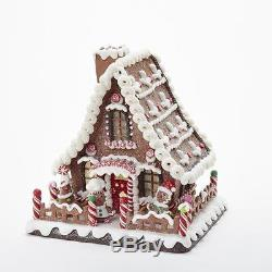 Gingerbread Candy House with LED Lighting 10 Christmas Kurt Adler D2869