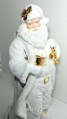 Grandeur Noel 3 Piece Porcelain Santa Reindeer & Polar Bear Christmas Set 1999