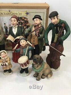 Grandeur Noel Porcelain Choir Set 2003 in Box Victorian Carolers 12 Figures