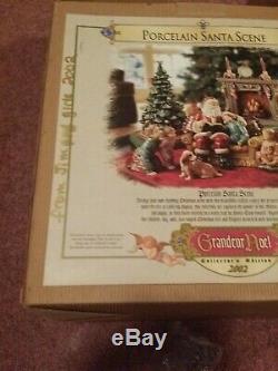 Grandeur Noel Porcelain Santa Scene Collector's Edition 2002 New