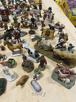 HUGE LOT Christmas Village Accessories Figurines DEPT 56, LEMAX, O'WELL, ETC