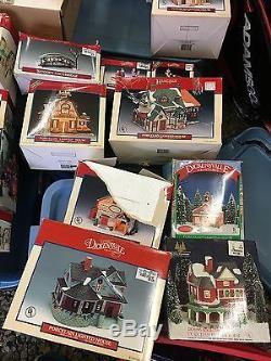 HUGE LOT OF Lemax Christmas Villages, etc, figures Dickensville, Heathside