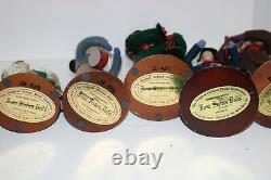 Hanna Mendus FOUR SISTERS DOLLS 1995 Dickens Dolls Christmas set of 6