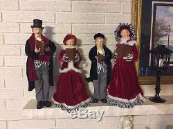 Have a Merry Christmas with a Beautifully clothed Christmas CAROLER Set RAZ 18