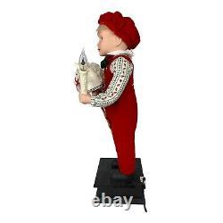Holiday Creations Animated 24 Boy and Girl Christmas Candle 1993 See Video