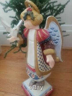 House Of Hatten Girl Christmas Holiday Angel Holding Dove Bird D Calla 1999 Rare