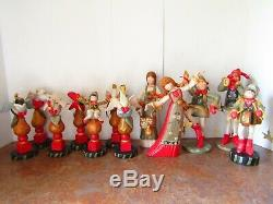 House of Hatten 12 Days of Christmas Mantle Pieces ENTIRE SET! Discontinued