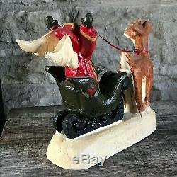 House of Hatten Denise Calla Angel Sleigh Deer Snow Fawn 1998 Christmas