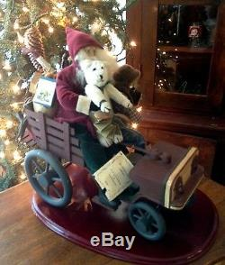 House of Hatten Norma DeCamp Santa on Wagon with toys rare piece
