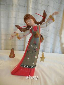 House of Hatten lady dancing 13 3/4 figure 12 days of Christmas 2000
