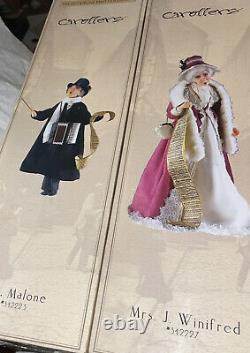Jacqueline Kent 2 Caroler Lot Mr Malone & Mrs J Winifred In Box! Nice
