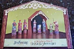 Jim Shore Heartwood Creek 9 Piece Mini Nativity Set