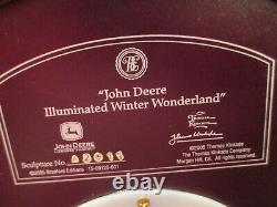 John Deere Lighted Christmas Tree Figurine Winter Wonderland