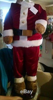 KARAOKE ANIMATED 5 FOOT DANCING / SINGING CHRISTMAS SANTA BEAR with MICROPHONE