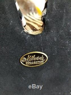 KATHERINE'S COLLECTION RUFUS RINGS CHRISTMAS RACCOON DOLL STATUE WAYNE KLESKi