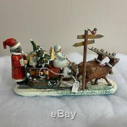 Kathe Wohlfahrt 2006 Kindertraum Childhood Dreams Reindeer Sleigh #21/200 COA