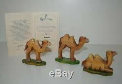 Kathe Wohlfahrt Kindertraum 2000 Nativity 3 Camel Germany LE 258/400 Certificate