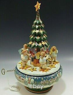 Kathe Wohlfahrt Kindertraum Wooden Christmas Tree Music Box L. E 17/50 Very Rare
