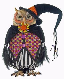 Katherine's Collection 15 Halloween Owl Tabletop Doll NIB