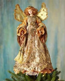 Katherine's Collection 19 Gold Angel Tree Topper NEW