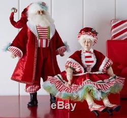 Katherine's Collection 20 Peppermint Santa Claus Doll New In Box Free Ship