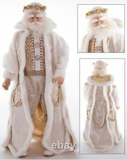 Katherine's Collection 24 Royal White & Gold Santa Doll Christmas NEW