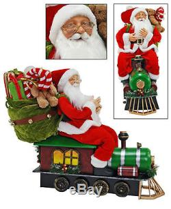 Katherine's Collection 25 Santa Claus Doll On A Train New In Box Store Sale