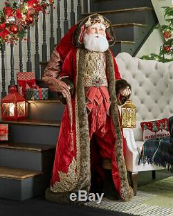 Katherine's Collection 72 Lifesize Holiday Cheer Red & Gold Santa Doll $1399