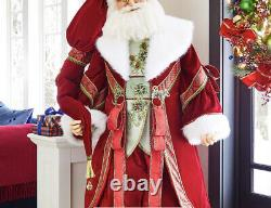 Katherine's Collection Christmas Wishes Lifesize Santa Doll 11-911526 NEW