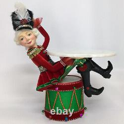 Katherine's Collection ChristmasToy Land Nutcracker withServing Tray NEW Beautiful