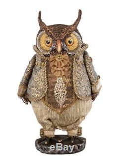 Katherine's Collection Gilded Celebrations 16 Christmas Owl Tabletop 2017 NIB
