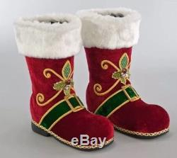 Katherine's Collection Santa's Boots 12 Set of Two 28-728566