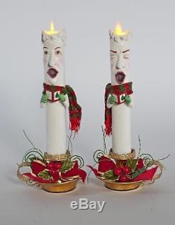 Katherines Collection Christmas Caroling Candle Sleeves Christmas 28-828336
