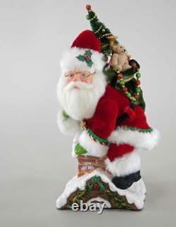 Katherines Collection Santa Climbing Chimney Figurine Christmas 28-828325