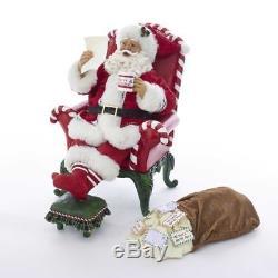 Kurt Adler 10Mscl Armchair Santa WithMailbag 2P