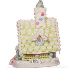 Kurt Adler Christmas Pastel Gingerbread House Deluxe New 2021 JEL1104 LiteUp LED