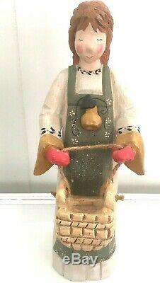 LARGE 13 Vintage 1999 House Hatten 8 Maids Milking Christmas D'Calla Figurine