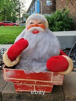 LARGE 1950s-60s HAROLD GALE SANTA BUST IN CHIMNEY STORE COUNTER DISPLAY