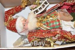 LARGE Mark Roberts North Pole Fairy Wooden Horse Tartan Christmas Santa Decor