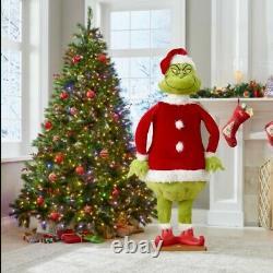 LIFESIZE ANIMATED GRINCH CHRISTMAS DISPLAY FIGURE SINGS DANCES 5.8' tall