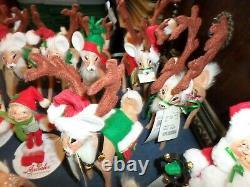 LOT 18 NEW Annalee Reindeer, Mice, Elves, Santa and Mrs. Claus