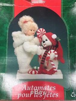 Large Animated Santa Best Doll Girl Doll & Snowman Bear