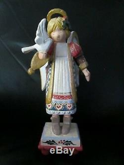 Large Rare 14 Tall House of Hatten Christmas Angel Tabletop Figurine Dove Bird