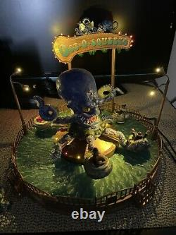 Lemax Spooky Town Rare Octo Squeeze Halloween Carnival Ride Oct-o-squeeze