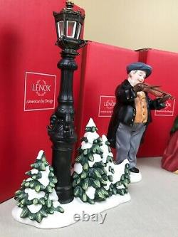 Lenox Christmas Carolers Porcelain Large Figurines Complete 7-Piece Set withboxes