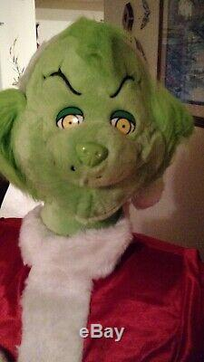 Life Size 5 Foot 2 Grinch That Stole Christmas Holiday Prop Animated