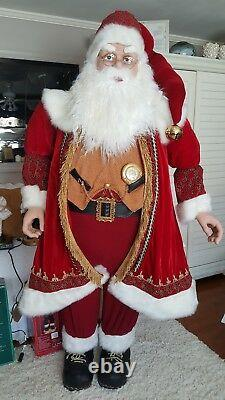Life Size Deluxe Members Mark Santa Claus Tall Over 6
