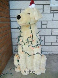 Lifesize Animated Christmas Dog Entangled In Lights Talks Sings Moves